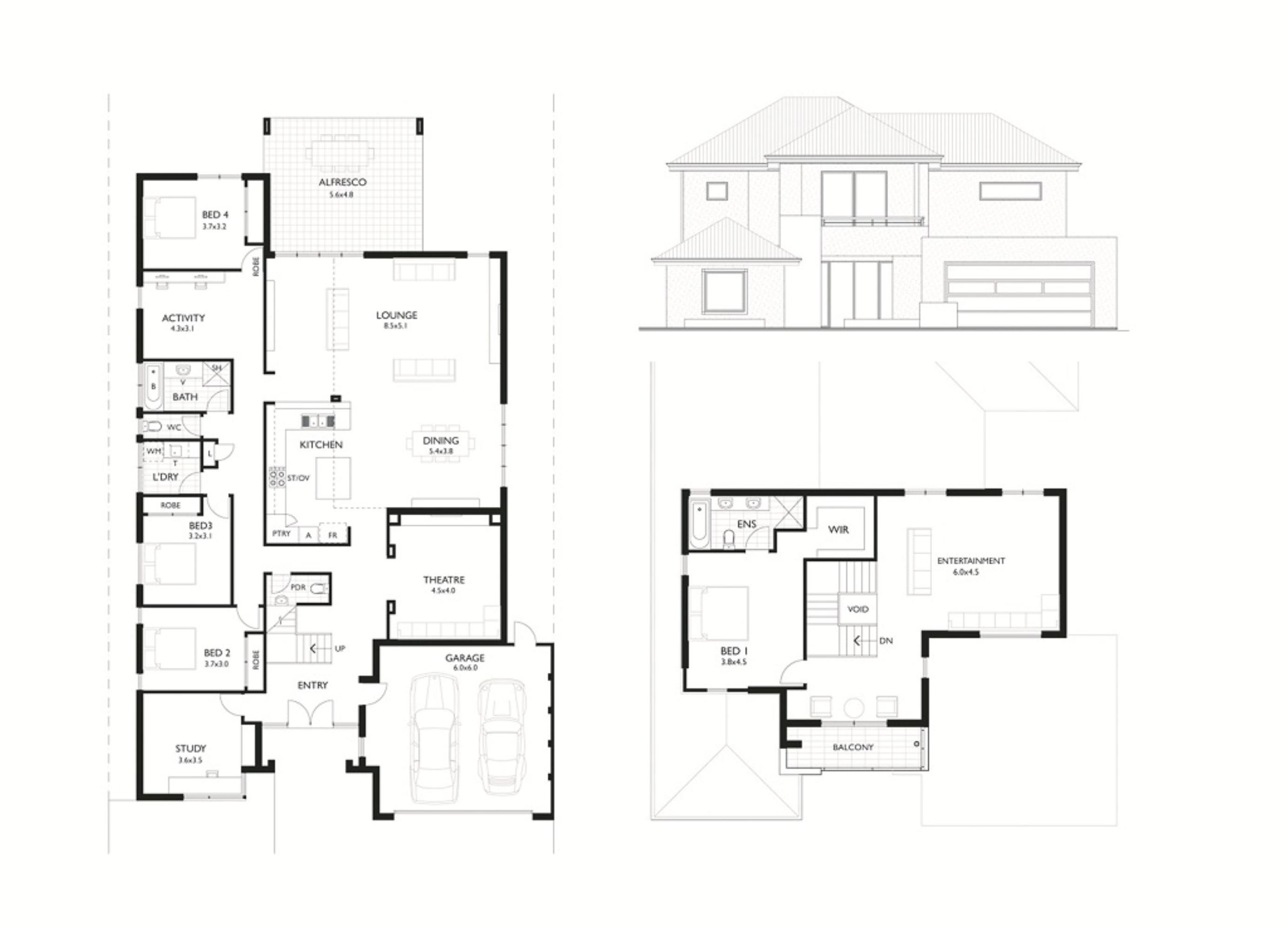 Escalade floor plan