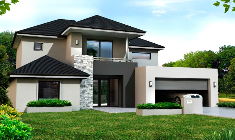 Narrow lot home designs two storey home designs for Custom home plans with cost to build