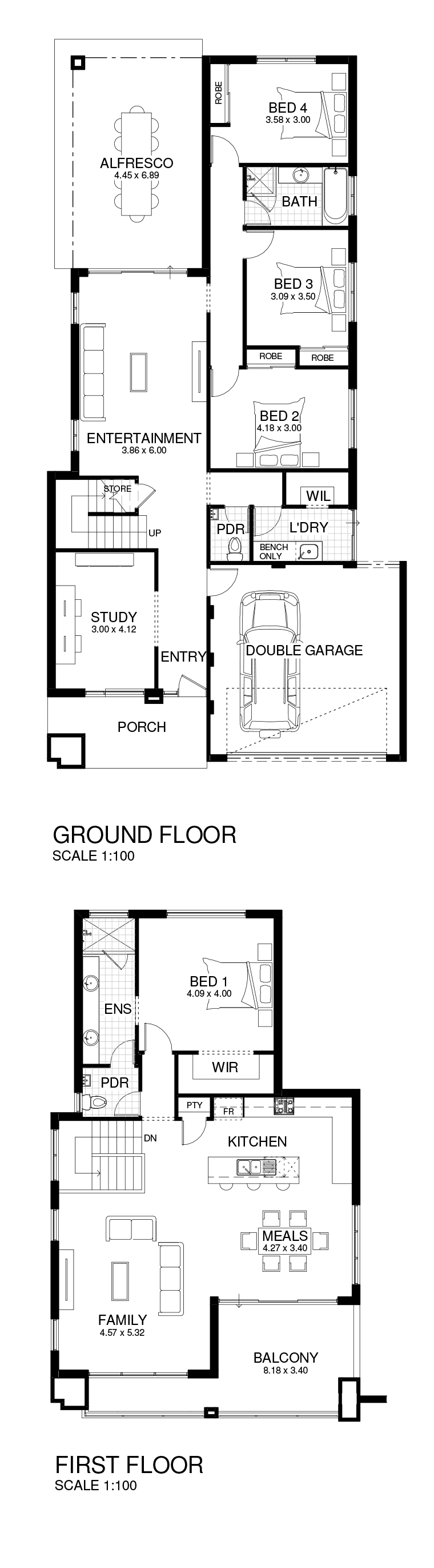 Houston floor plan