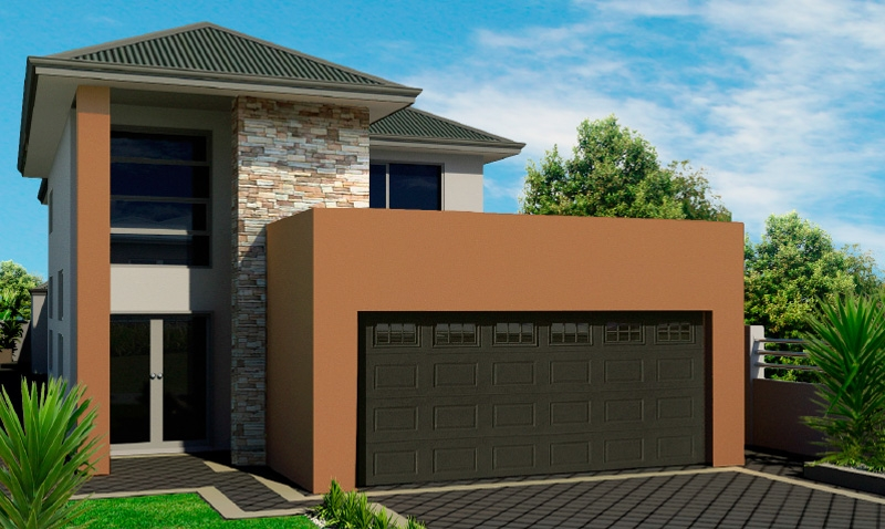 Narrow lot homes perth 2 storey house calista for Minimalist narrow house plans