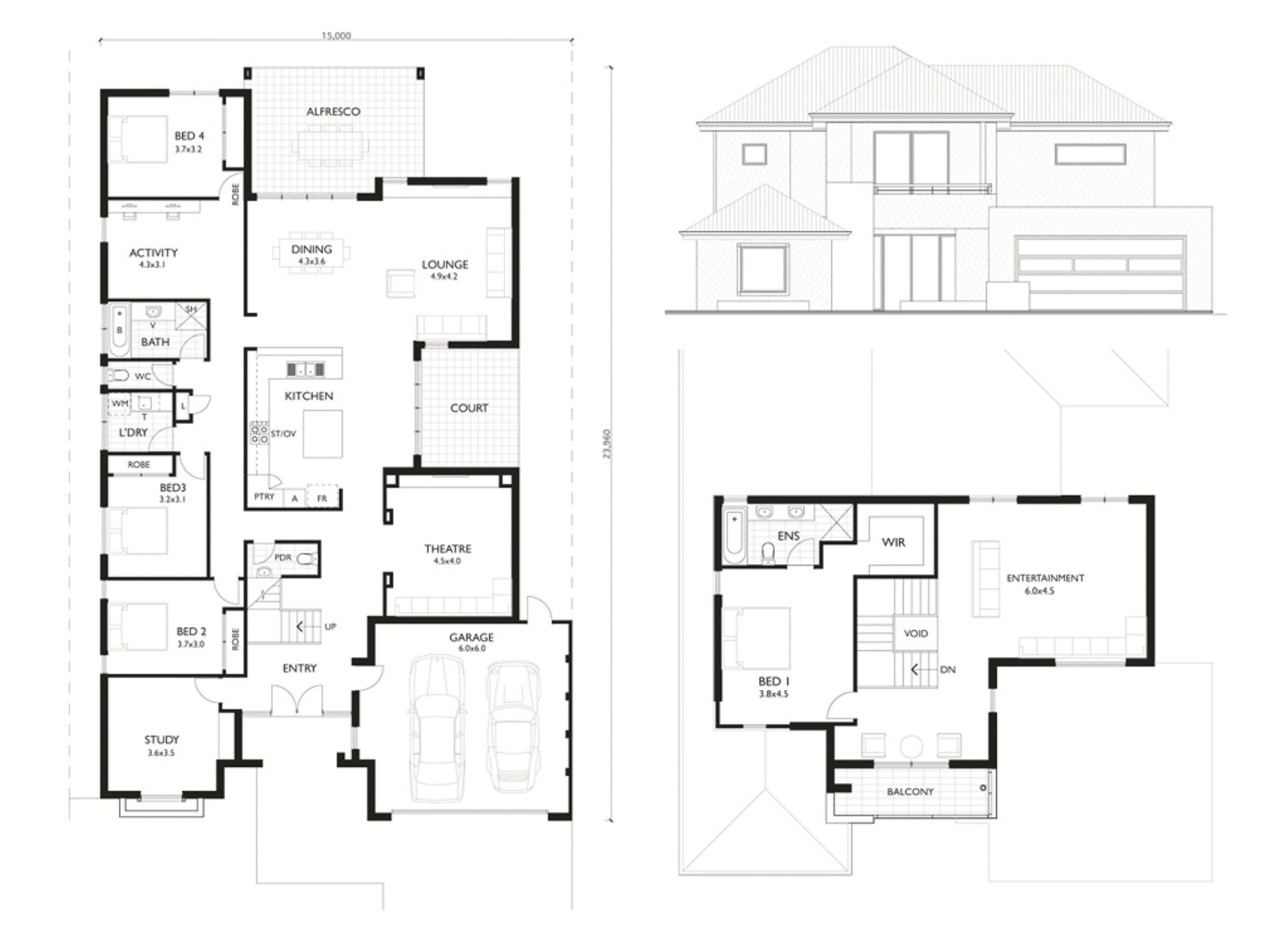 Escalade II floor plan