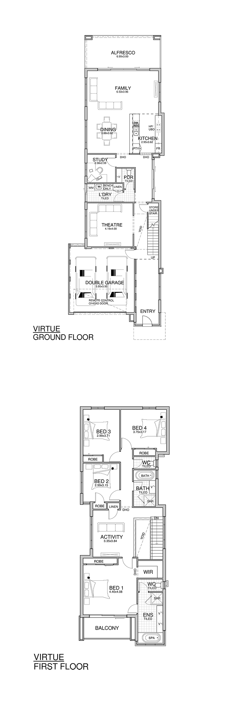 Virtue on Narrow Lot House Designs Floor Plans